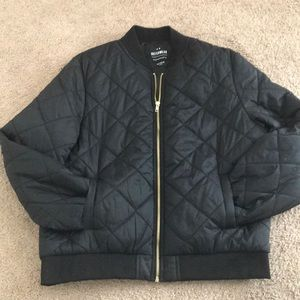 Cotton On bomber jacket in black with gold zipper